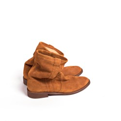 Claire Distressed Tan Suede