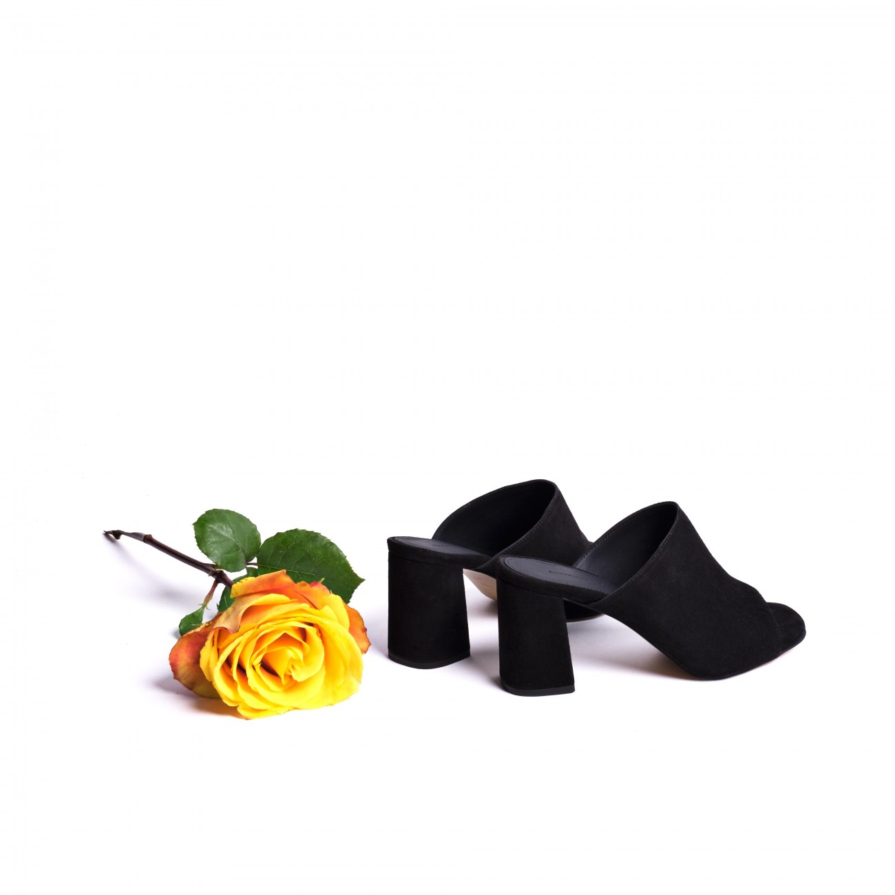 Black Cindy mules