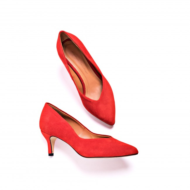 Vilja Red Suede Pump