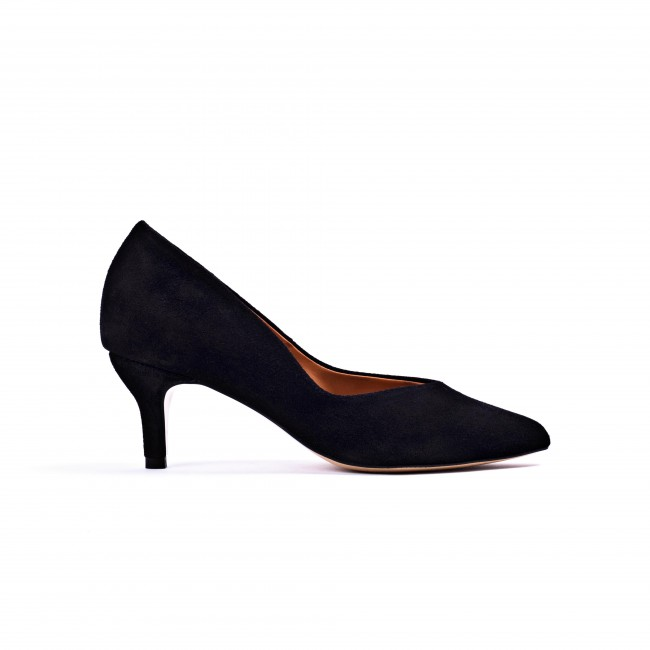 Vilja Black Suede Pump