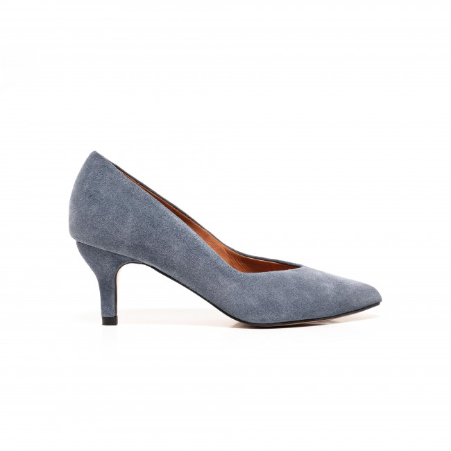 Vilja suede denim blue