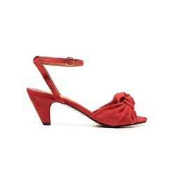 Aliza Suede Lollipop red