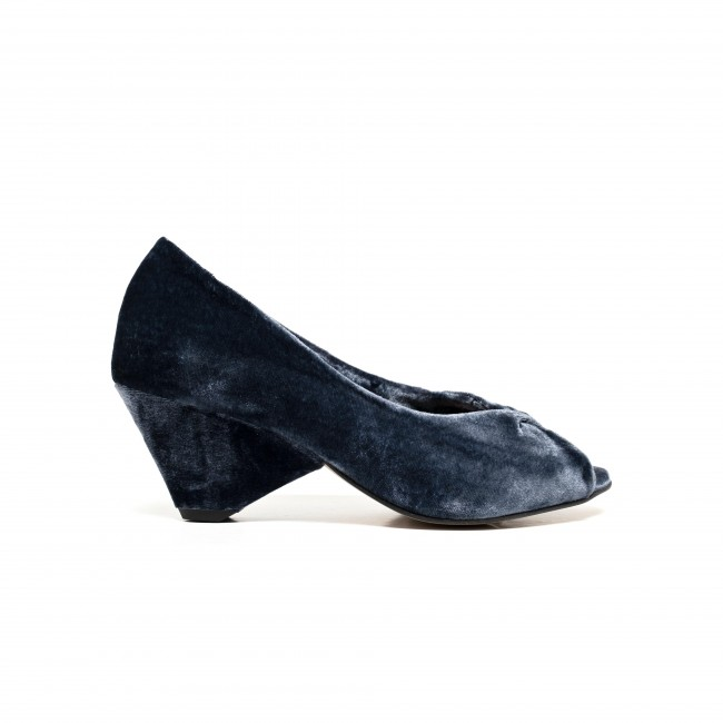 Luna velvet denim blue