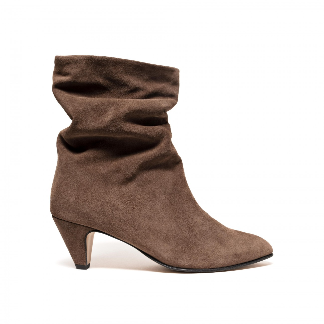 Vully 50 Stiletto Suede dark taupe