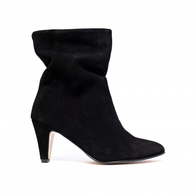 Vully 75 stiletto suede Black