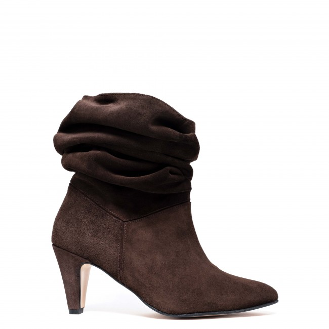 Jasmina 75 Stiletto suede coffee