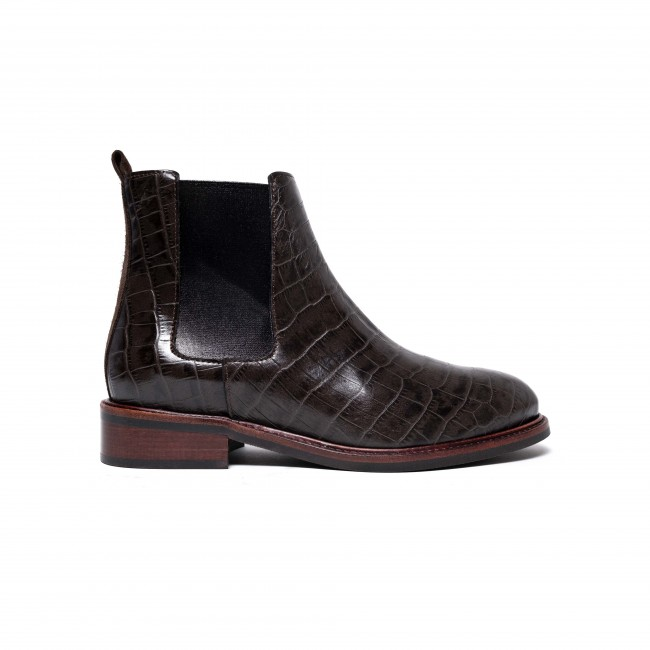 Hazel Croco Calf Brown
