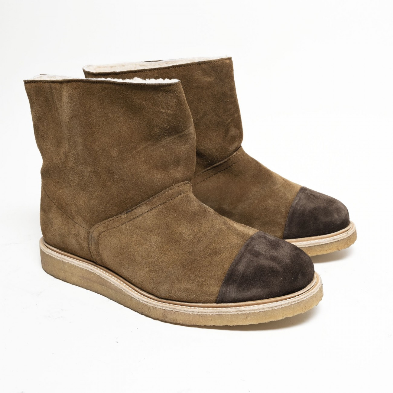Cammi wool suede tan - Size 38
