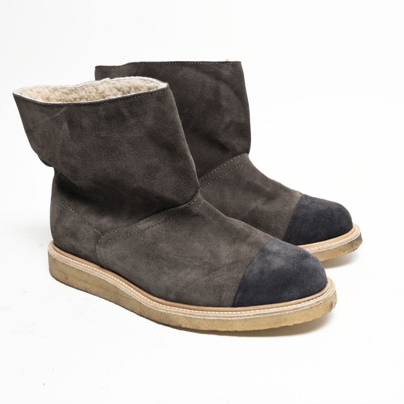 Cammi wool suede brown - Size 38