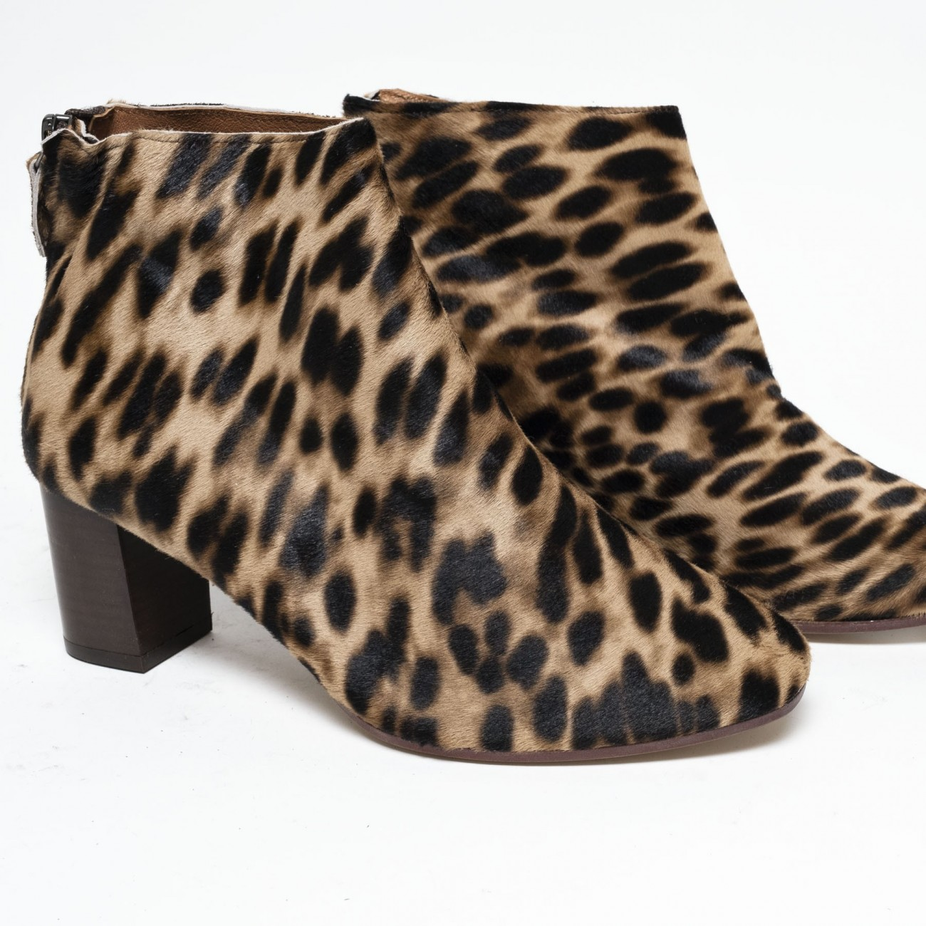 Miley 55 Calf hair Leopard Tan - Size 38