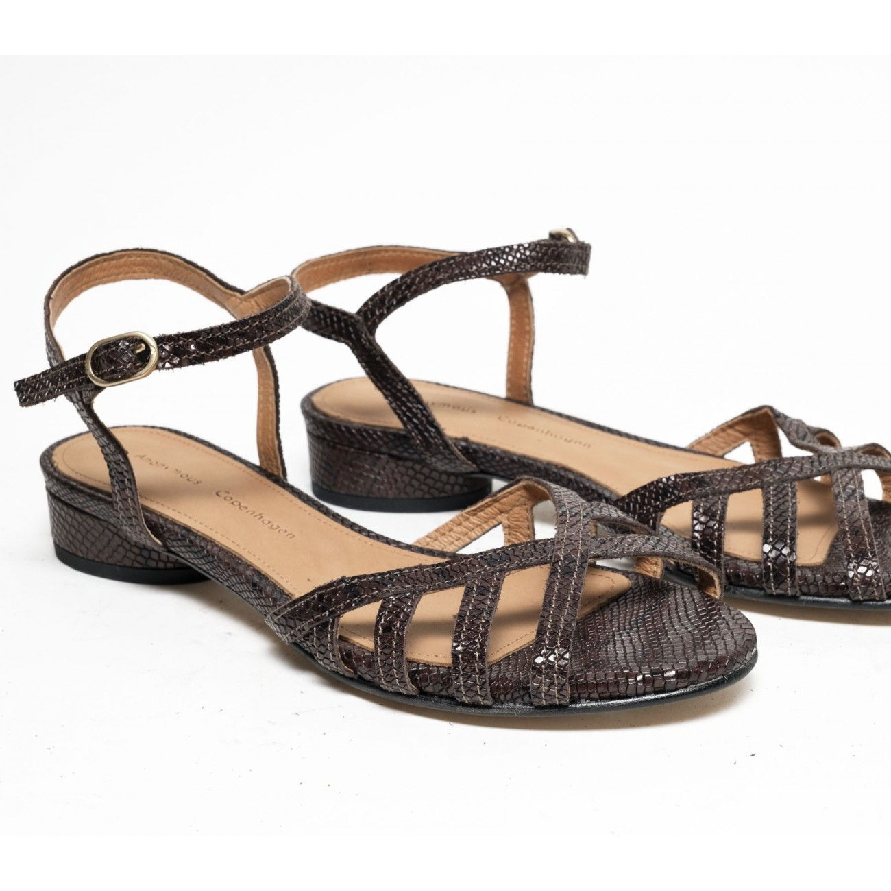 Issi 20 Snake calf Brown - Size 38