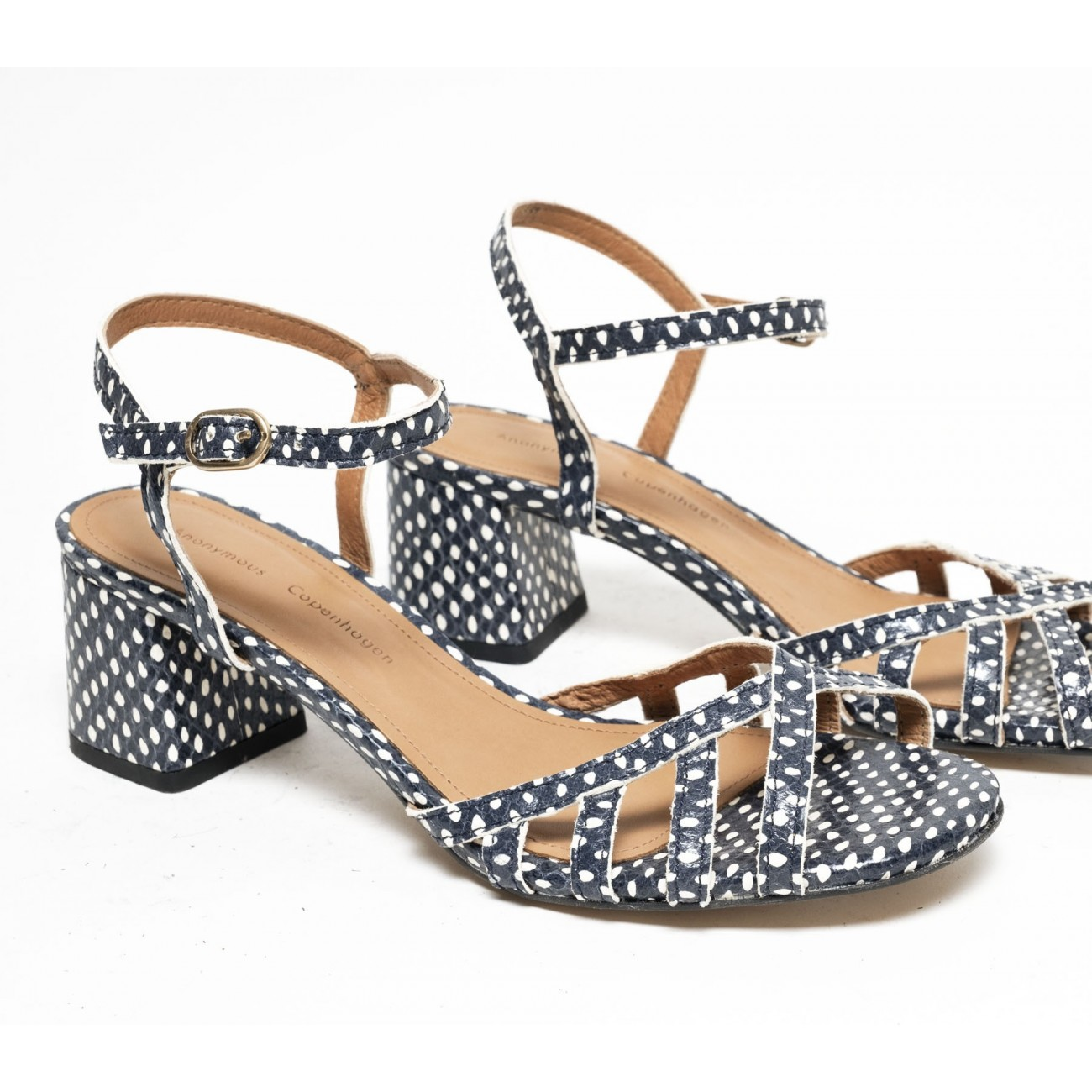 Issi 55 Spotted snake Blue - Size 38