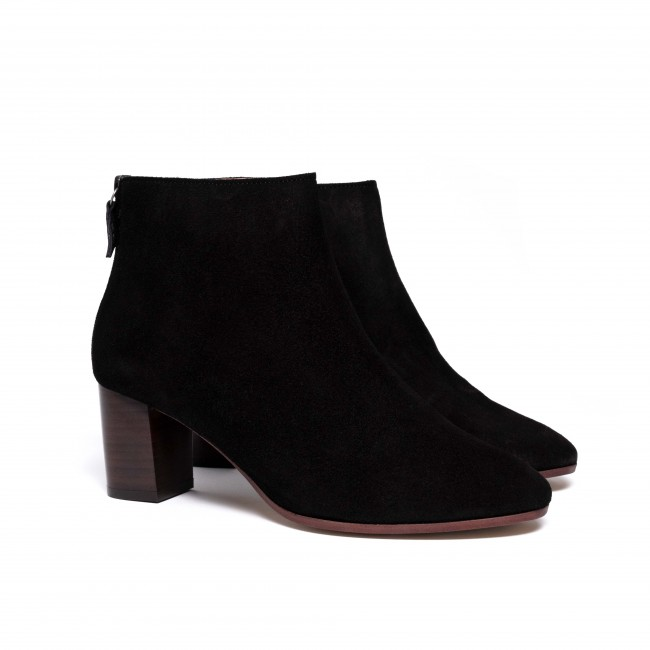 Miley 55 Calf Suede Black