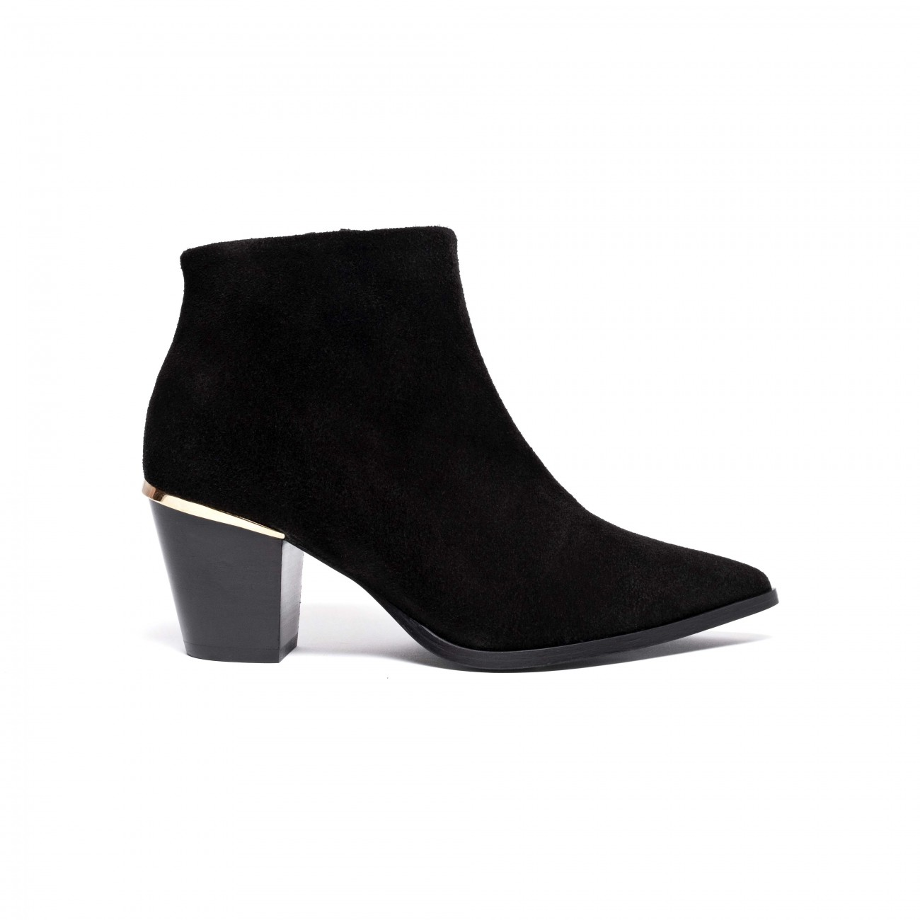 Suzie Calf Suede Black
