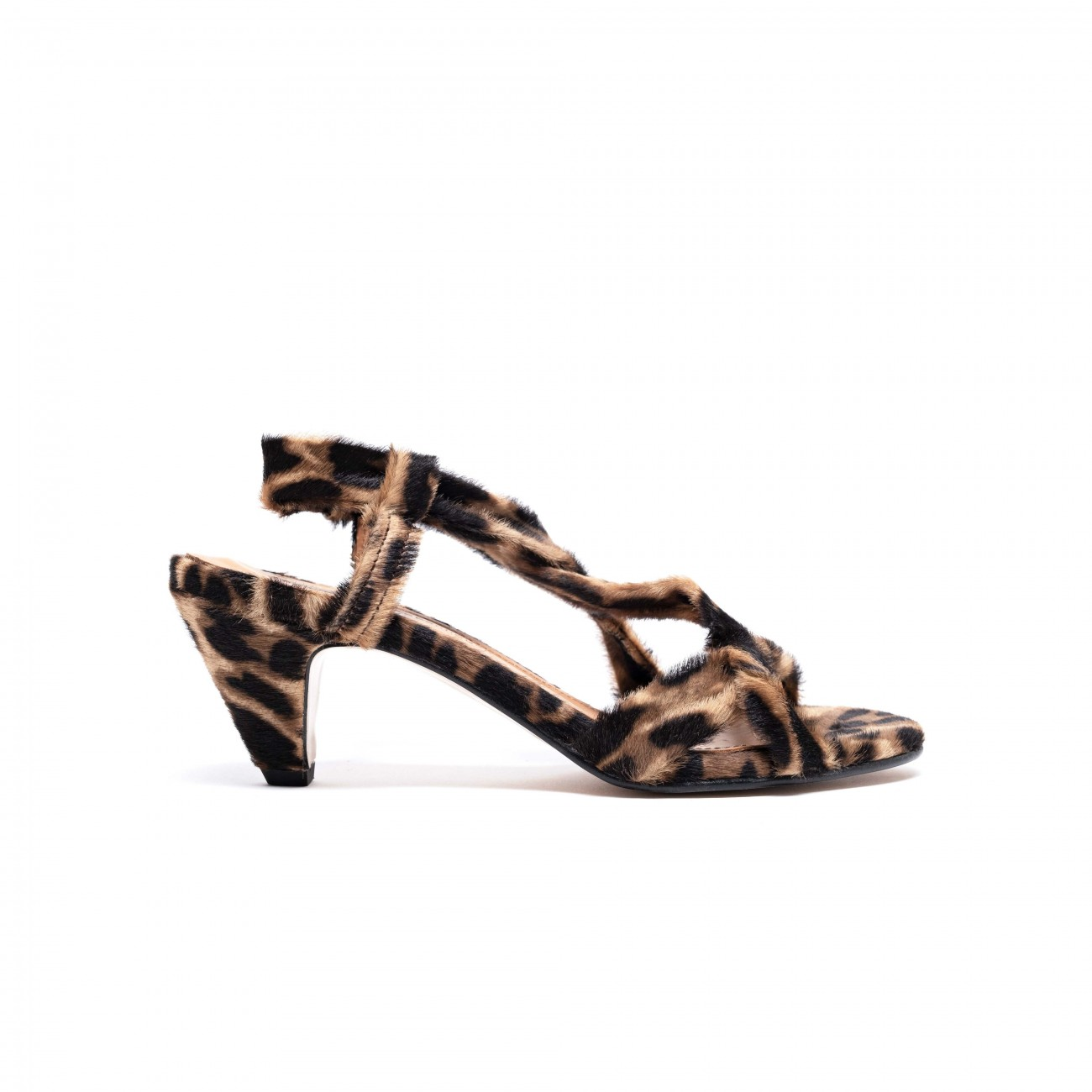 Isabelle Calf hair Tan Leopard