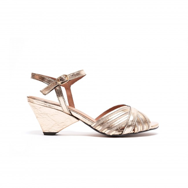 Kristine Grained Metallic Nappa Gold Multi