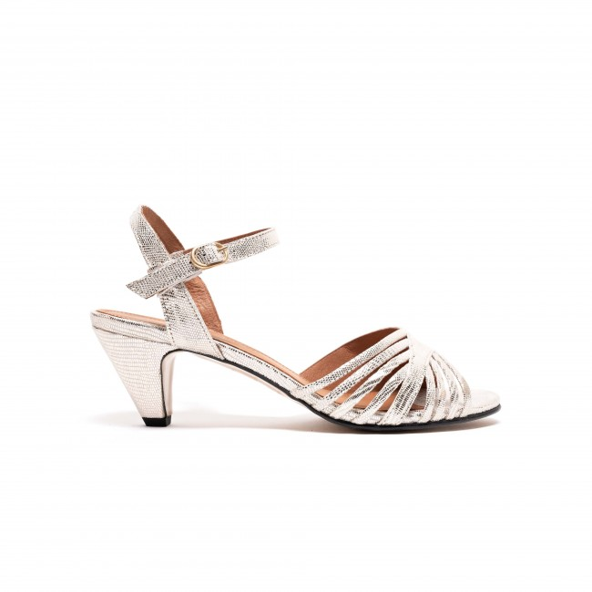 Hermine Crackle Metallic Nappa Champagne