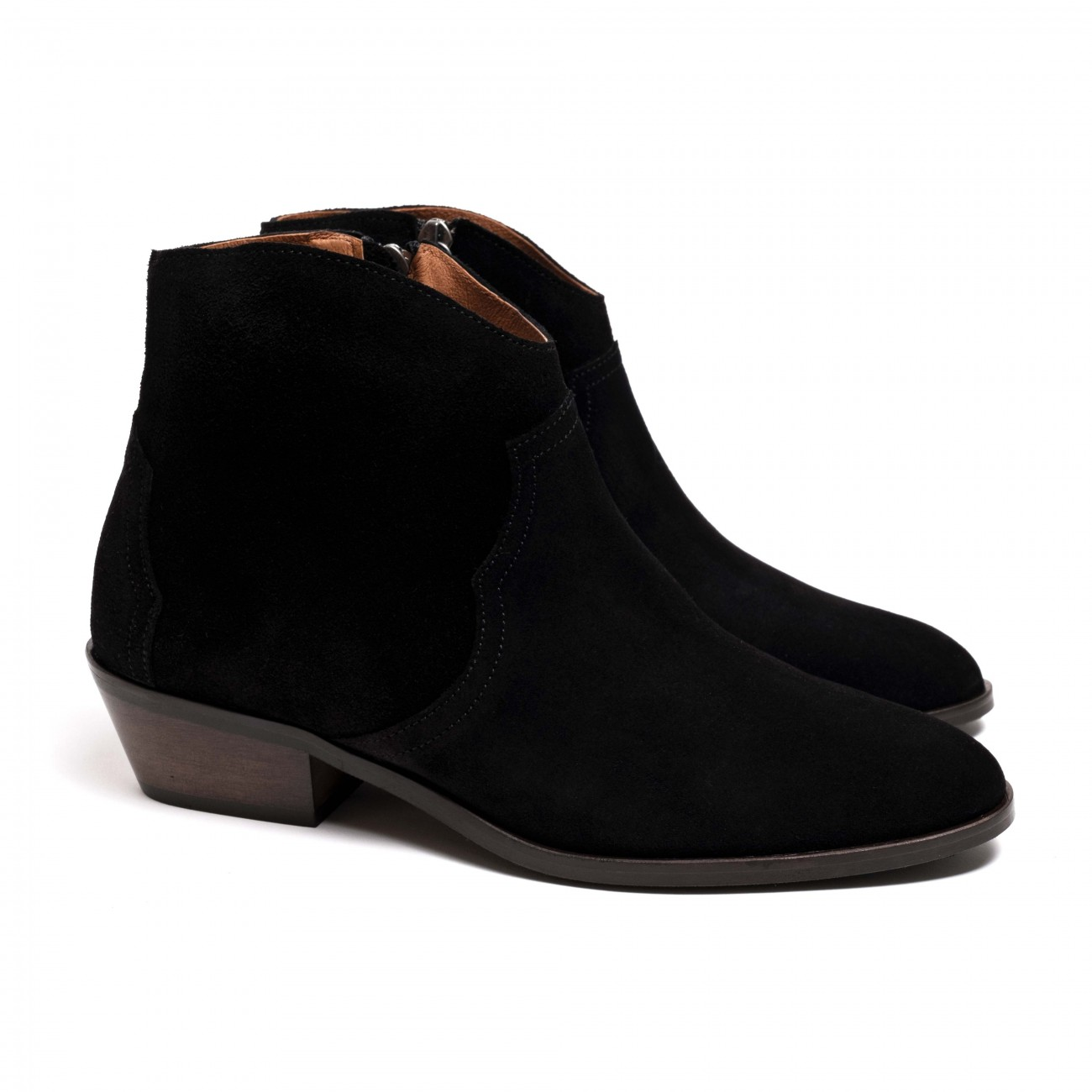 Fiona Black calf suede