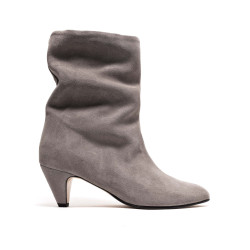 Vully 50 Stiletto Calf Suede Asphalt