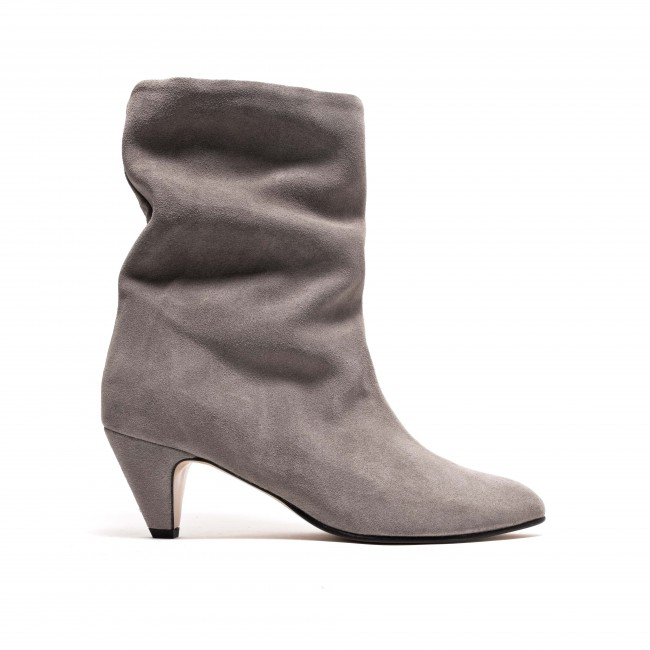 Vully 50 Stiletto Calf suede Asphalt grey