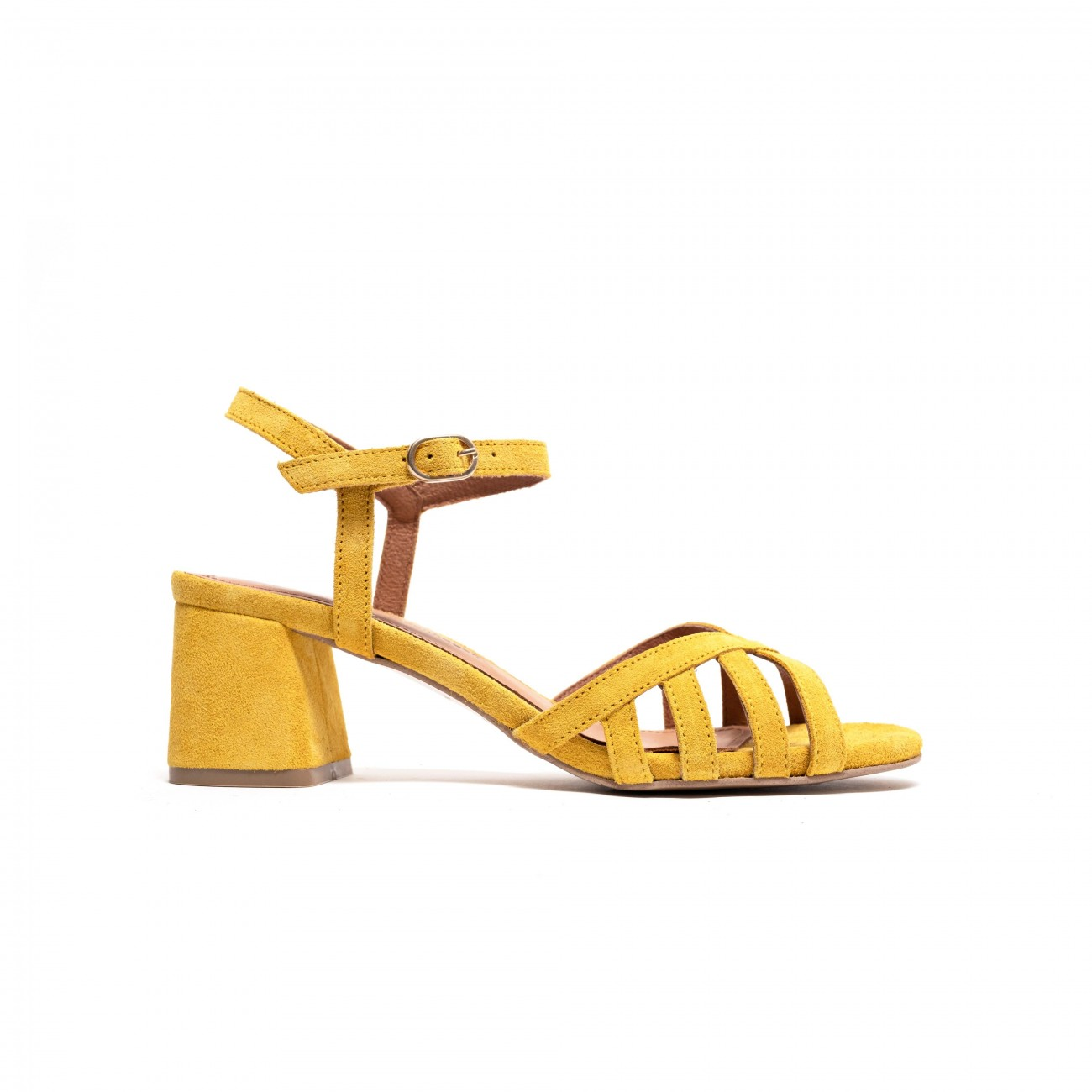 Issi 55 Calf Suede Yellow