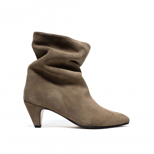 Vully 50 Stiletto Calf suede Khaki
