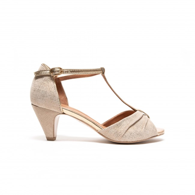 Linette Suede metallic Gold