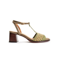 Lizanne 55 Braided Leather Khaki Multi
