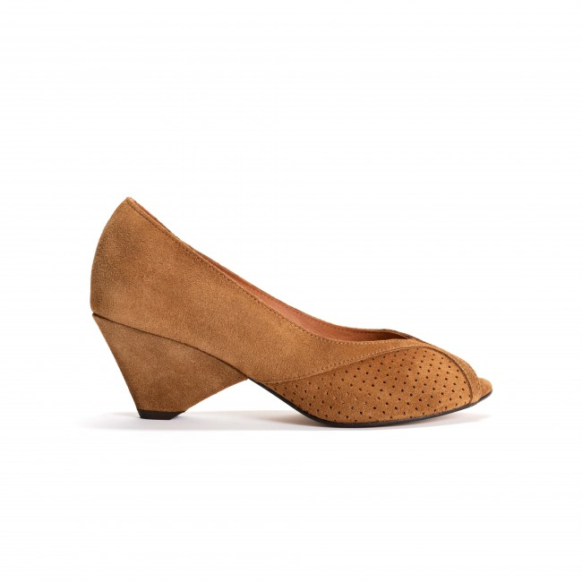 Tiffany Triangle Calf suede Camel