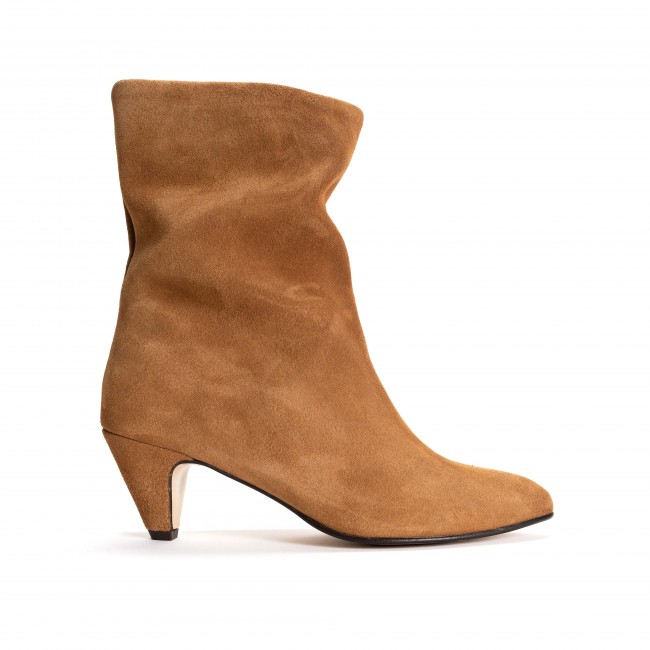 Vully 50 Stiletto Calf suede Camel