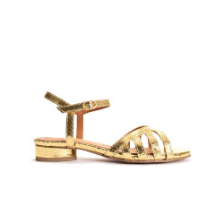 Issi 20 Metallic Snake Calf Gold
