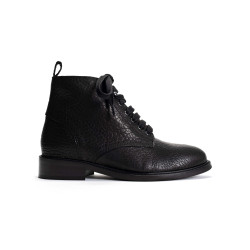 Valery Black Grained Calf Leather