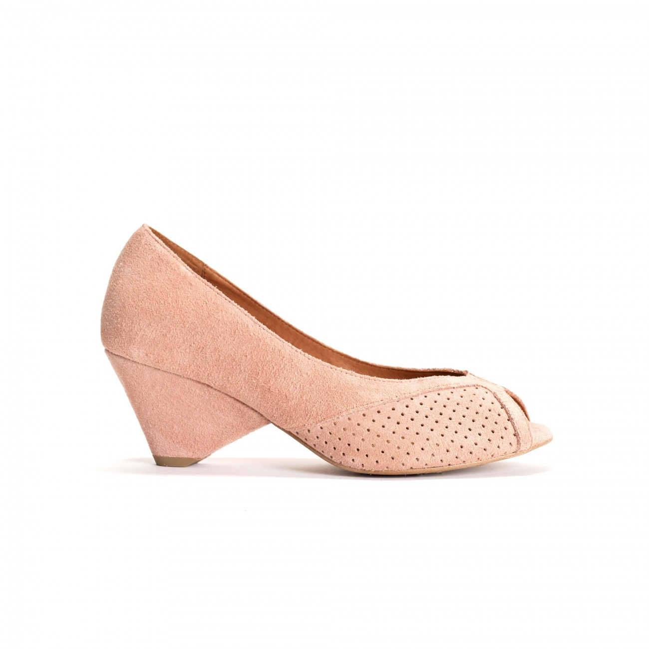 Tiffany Triangle Calf suede Pink shell