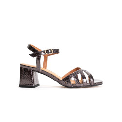 Issi 55 Metallic snake calf Platinum