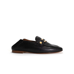 Alica Grained lamb Black