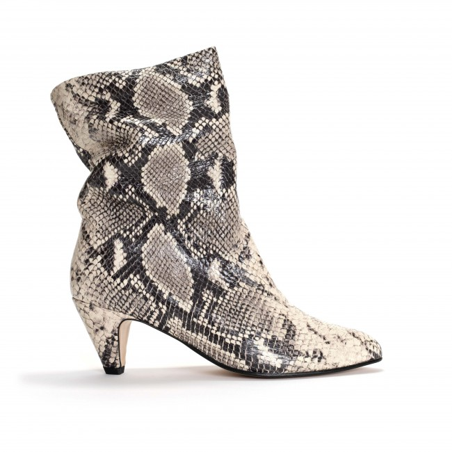 Vully 50 Stiletto Snake Calf Light grey