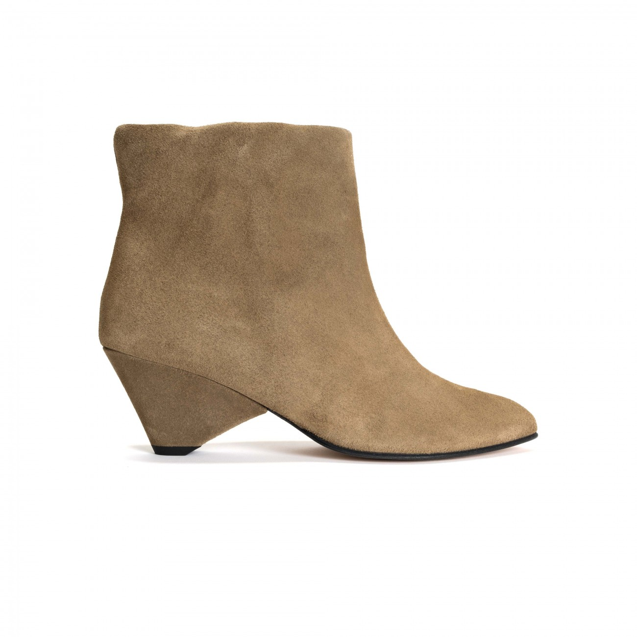 Hilly Triangle Calf suede Khaki